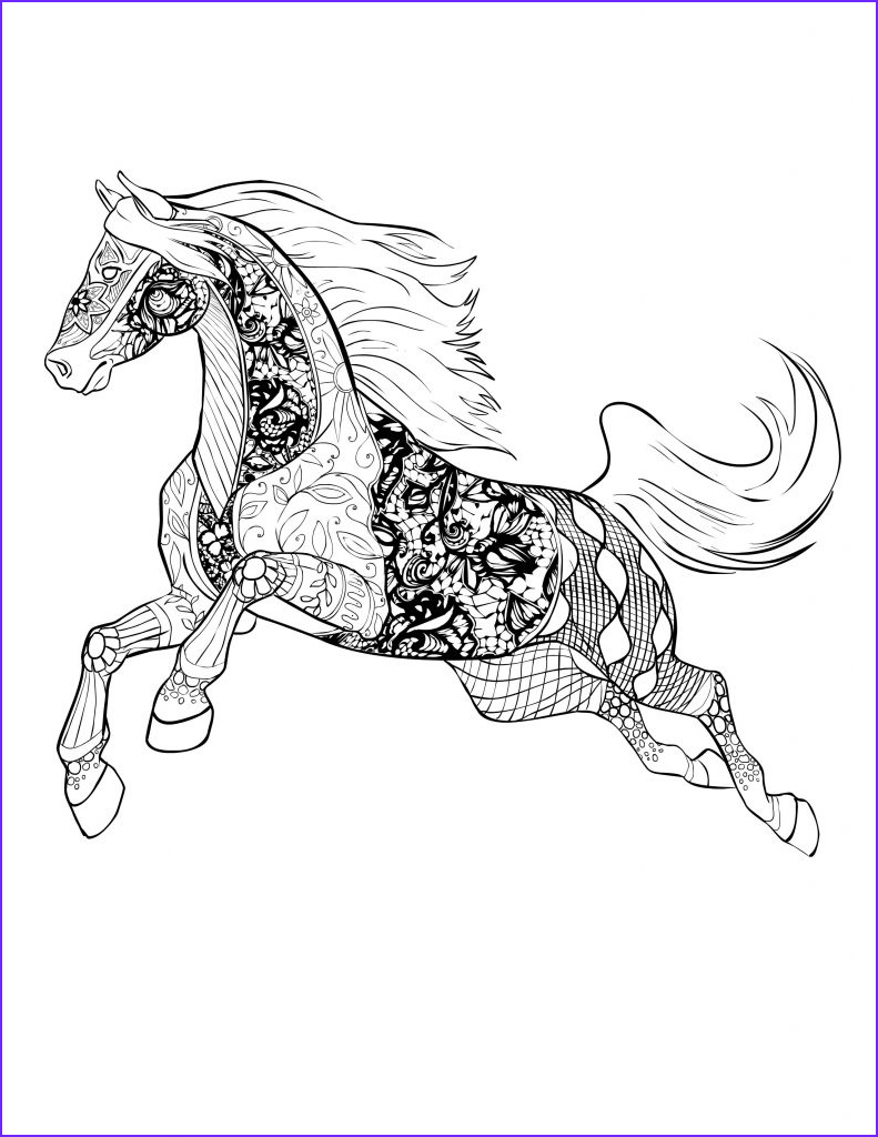 Adult Horse Coloring Book Beautiful Gallery Horse Coloring Pages for Adults Best Coloring Pages for Kids