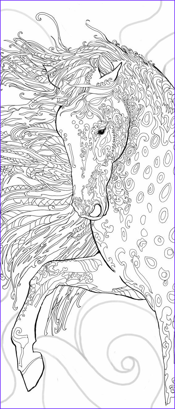 Adult Horse Coloring Book Cool Photos Coloring Pages Digital Stamp Printable Adult Coloring Book