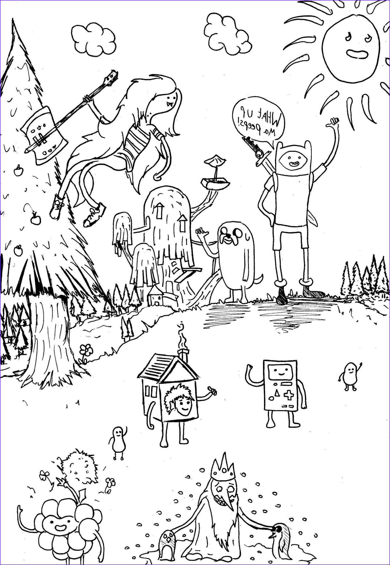 adventure time finn jake coloring pages