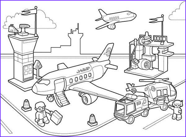 airport coloring pages
