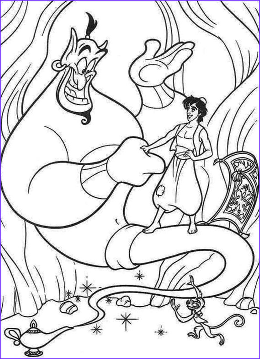 aladdin coloring pages free