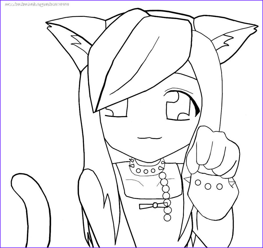 Anime Wolf Girl Coloring Page Awesome Image Cute Anime Wolf Girl Drawing Easy Drawing Art Ideas