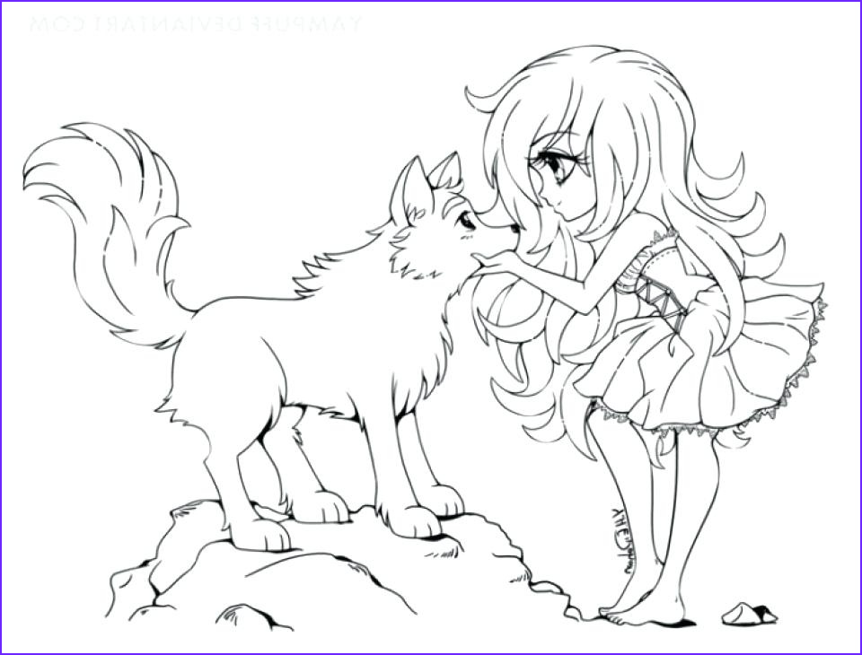 Anime Wolf Girl Coloring Page Beautiful Gallery Anime Wolf Girl Coloring Pages at Getcolorings
