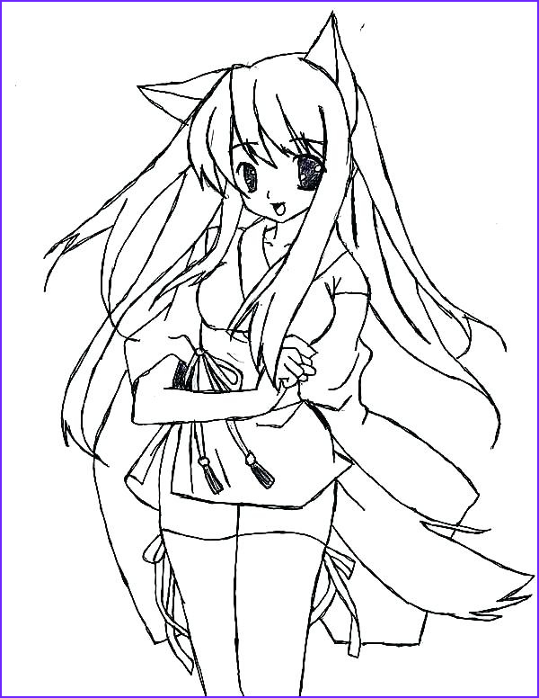 Anime Wolf Girl Coloring Page Cool Stock Anime Wolf Girl Coloring Pages at Getcolorings