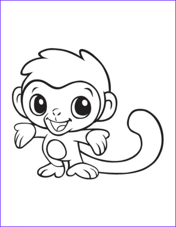 easy coloring pages for young kids
