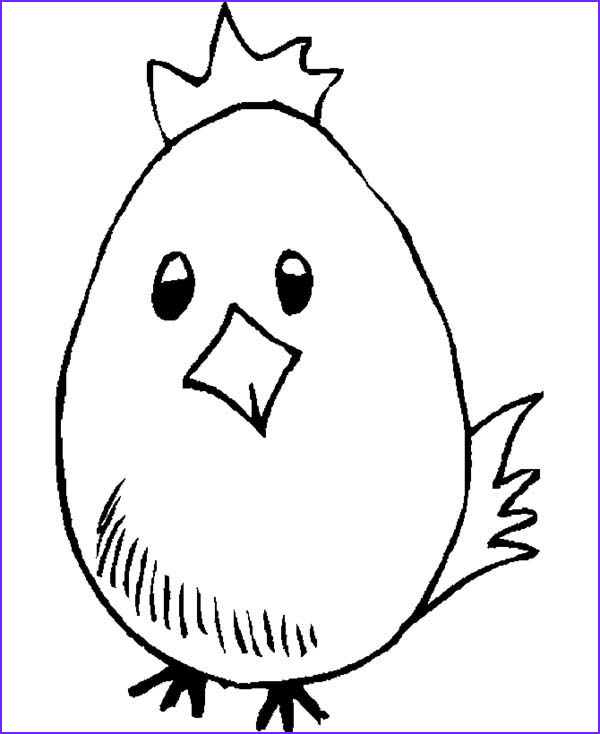 baby chick wearing crown coloring page
