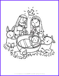 Baby Jesus Coloring Page for Preschoolers Awesome Image Christmas Crafts for Kids