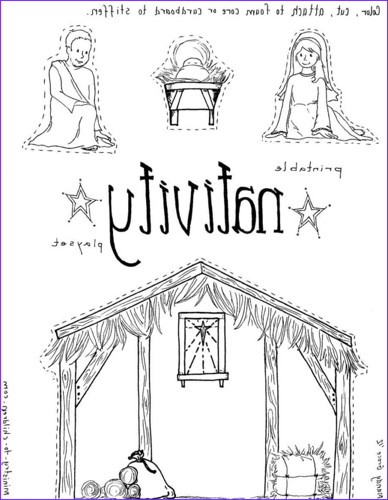 """Baby Jesus Coloring Page for Preschoolers Elegant Image """"jesus In the Manger"""" Coloring Pages Nativity Playset"""