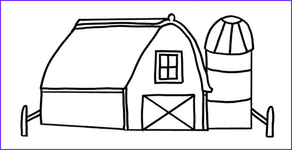 Barn Coloring Picture Beautiful Collection Drawing Barn Coloring Page Color Luna