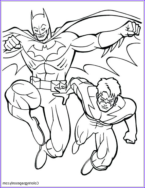 Batman and Robin Coloring Page Beautiful Gallery Batman and Robin 3 Coloring Page Free Coloring Pages Line