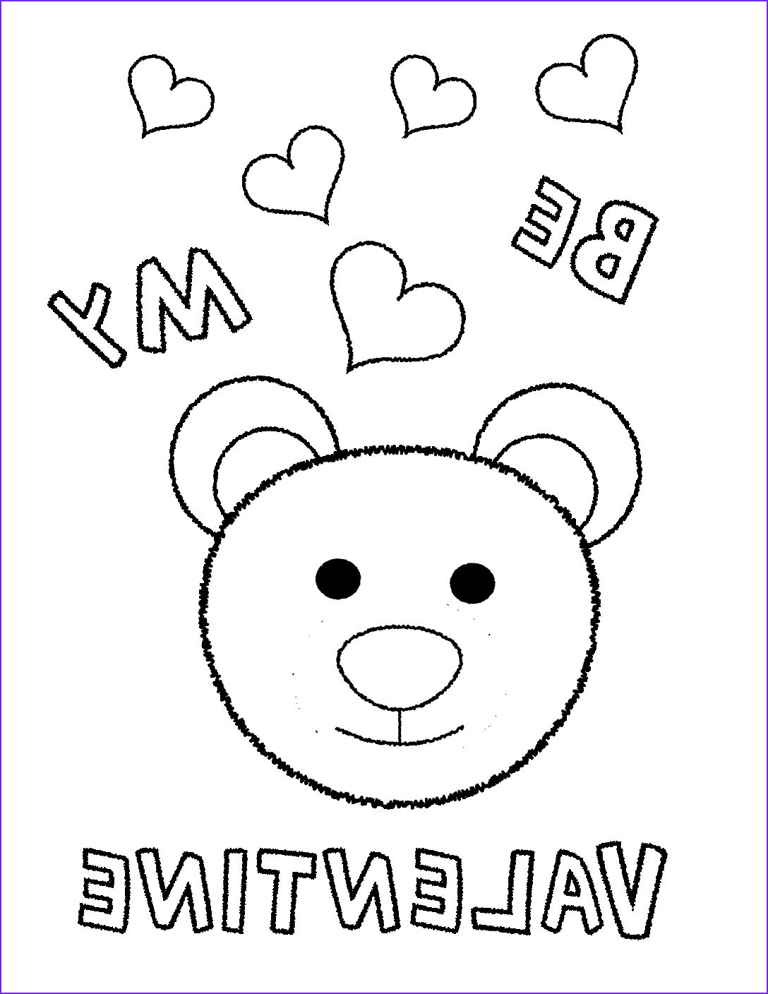 Be My Valentine Coloring Page Beautiful Stock Be My Valentine