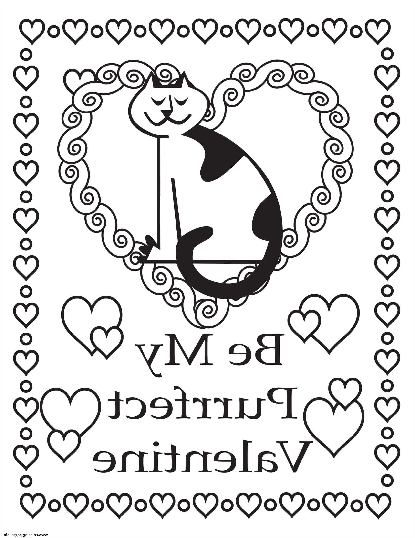 Be My Valentine Coloring Page Cool Photos Print Be My Perfect Valentine Coloring Pages