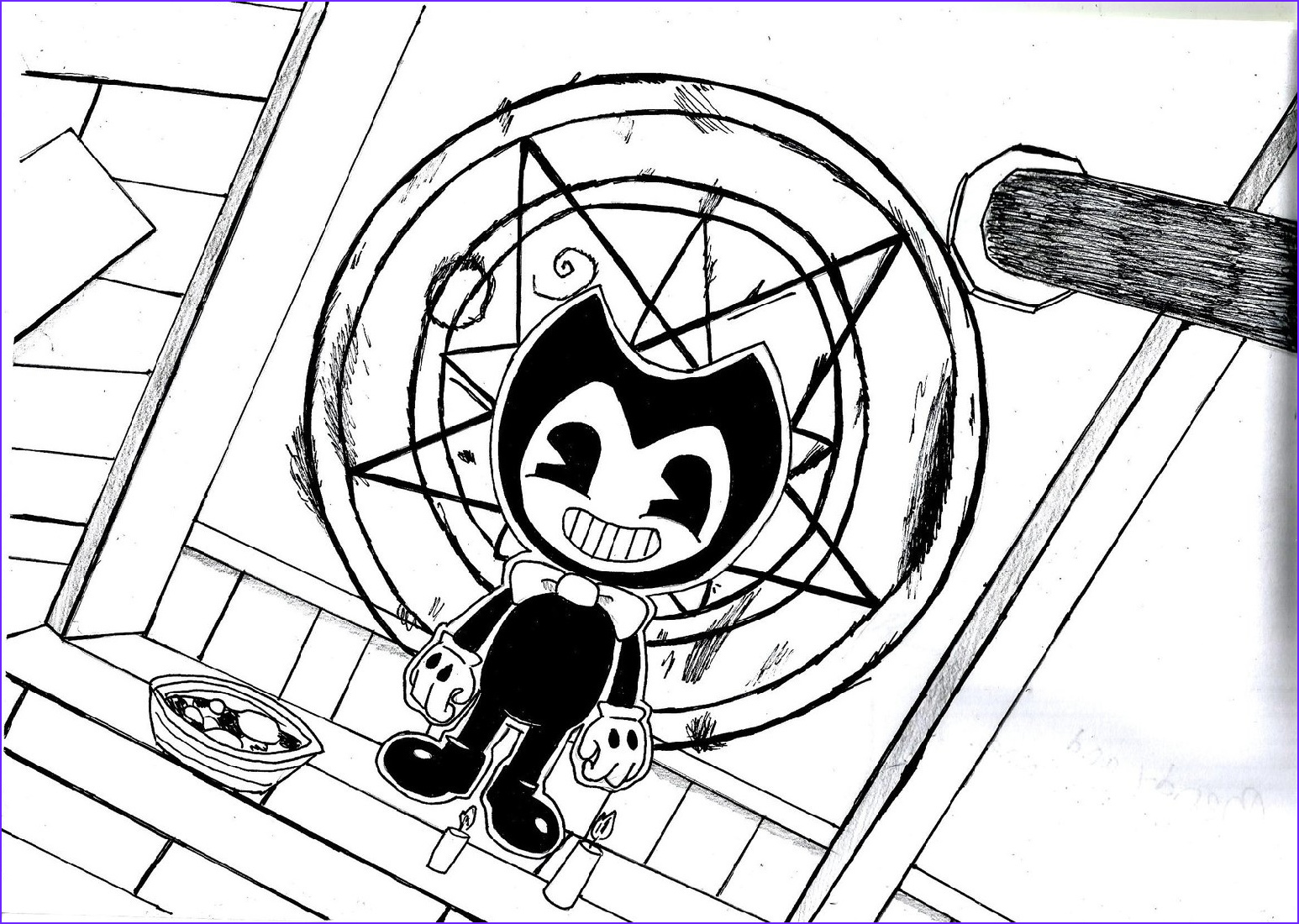 Bendy and the Ink Machine Coloring Cool Images Bendy and the Ink Machine Coloring Pages