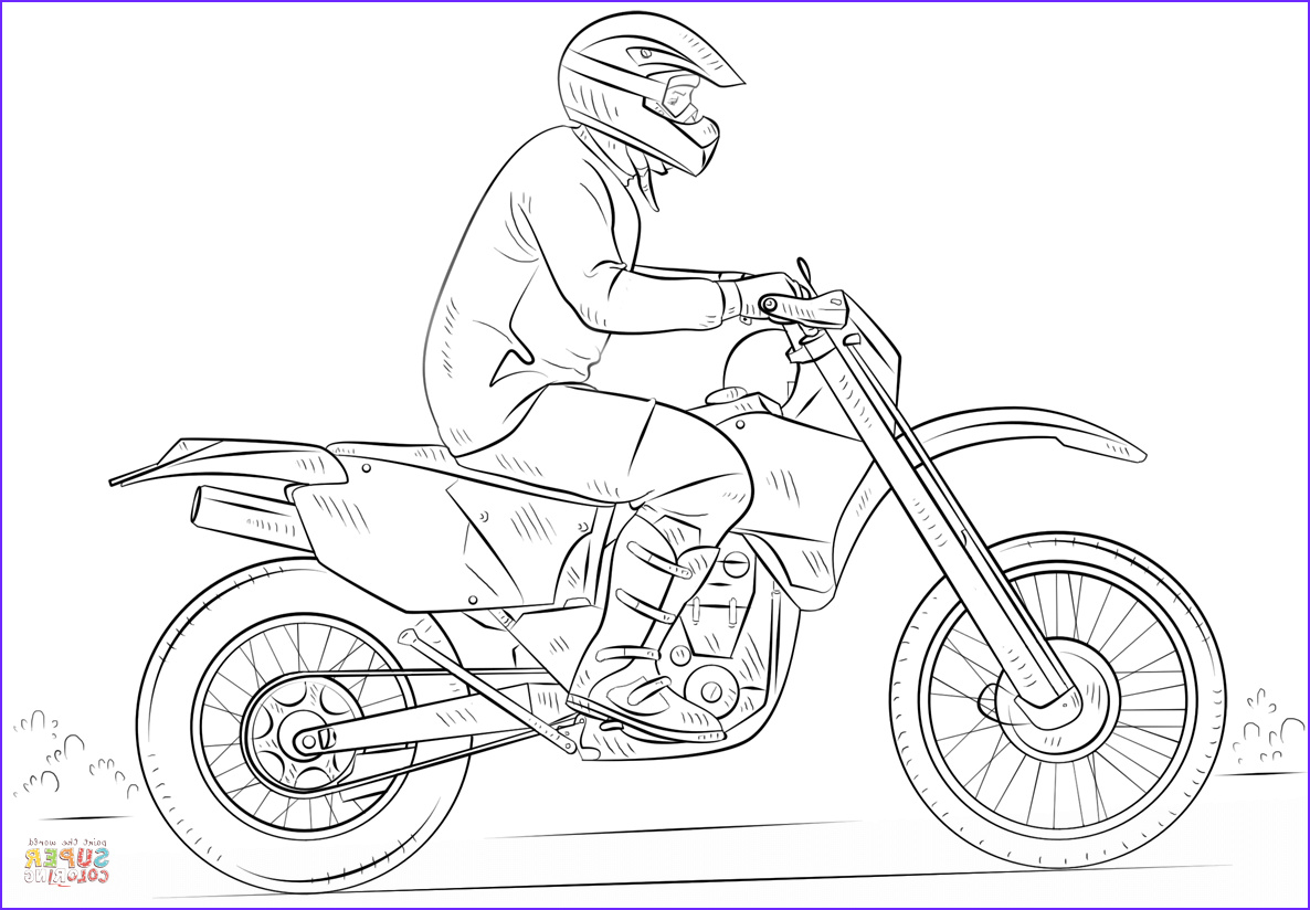 motorcross coloring pages