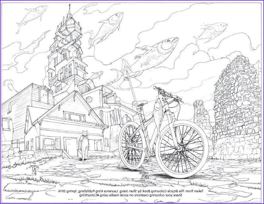 bicycle colouring book grown ups ing next month