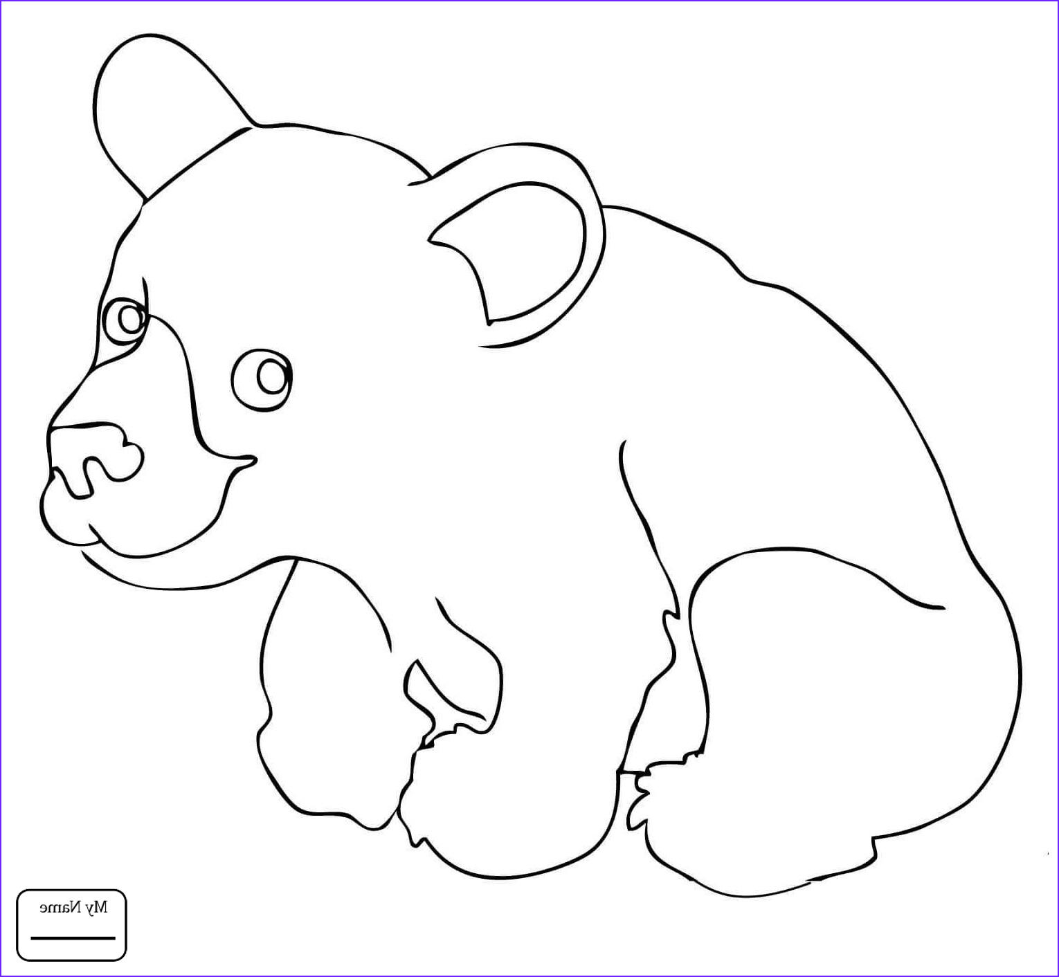 Black Bear Coloring Page Beautiful Images Coloring Pages Black Bear at Getcolorings