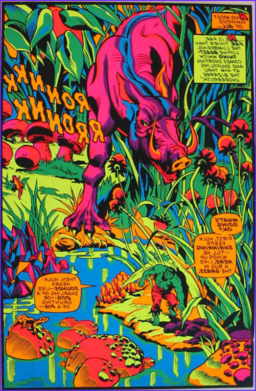Black Light Coloring Posters Awesome Collection the Dork Review Rob S Room Black Light Marvel Posters
