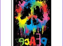 Black Light Coloring Posters Elegant Gallery Peace Sign Poster Psychedelic Blacklight Dripping Paint In