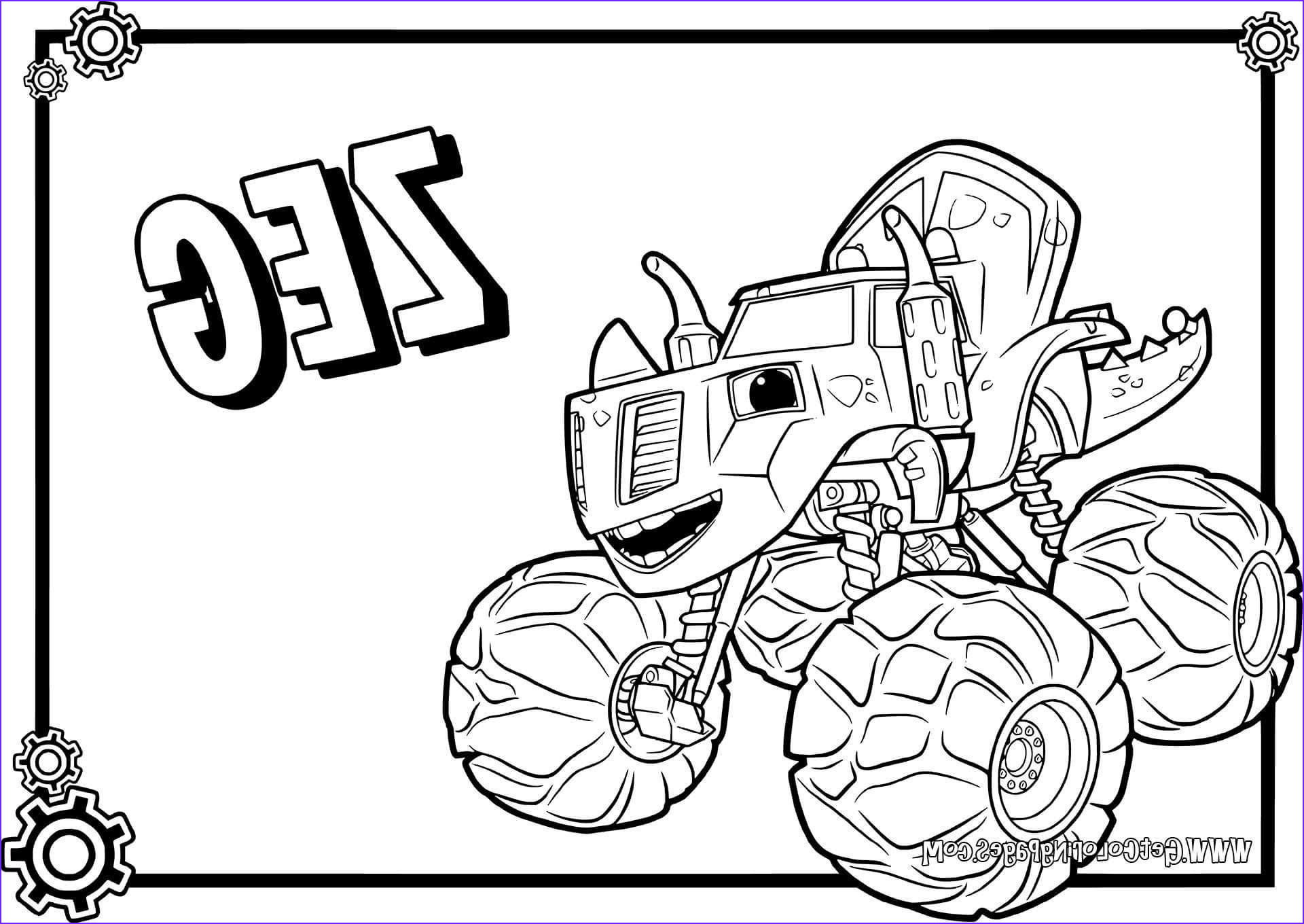 Blaze Coloring Sheet New Images Blaze and the Monster Machines Coloring Pages Lovely