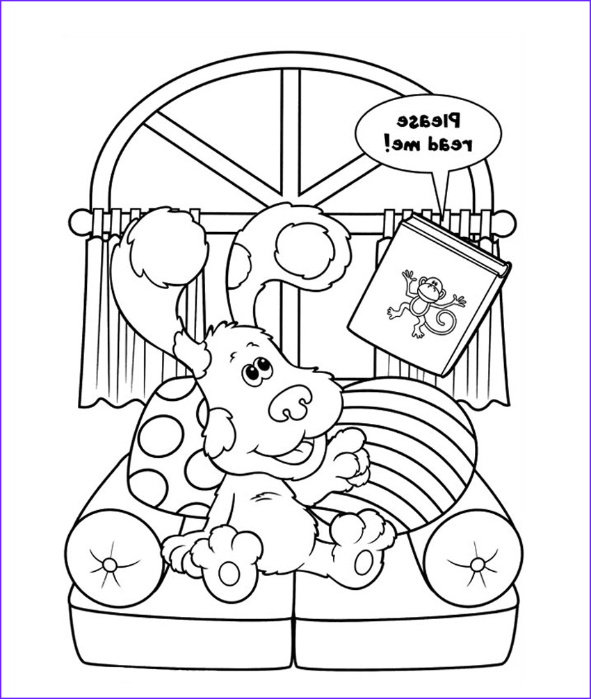 blues clues coloring pages