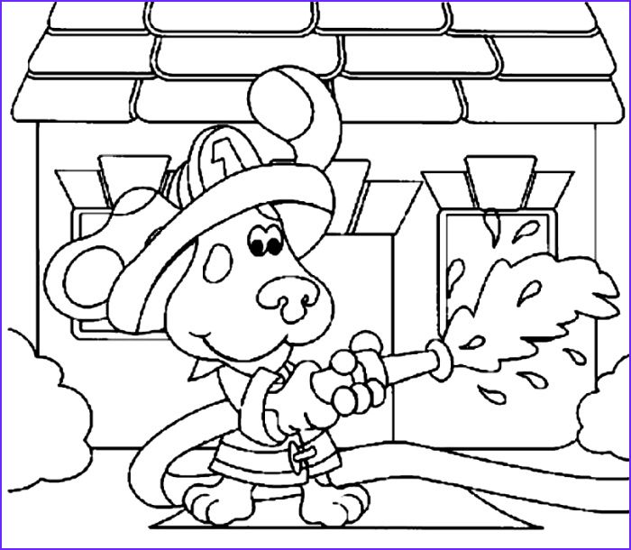 blues clues the fire man coloring page