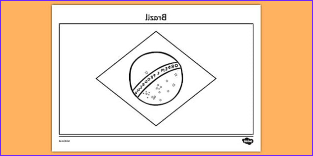 Brazil Coloring Page New Collection Brazil A4 Coloring Flag Teacher Made