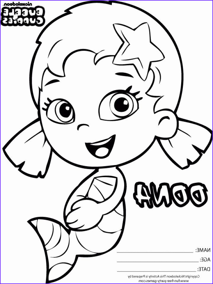 Bubble Guppies Coloring Awesome Photos Bubble Guppies Coloring Page New Get This Printable Bubble