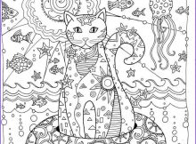 Cat Adult Coloring Page New Photos Creative Cats Coloring Page Dover