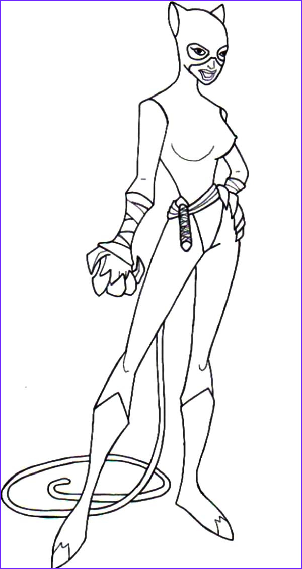 cat women strong and sharp claws coloring pages