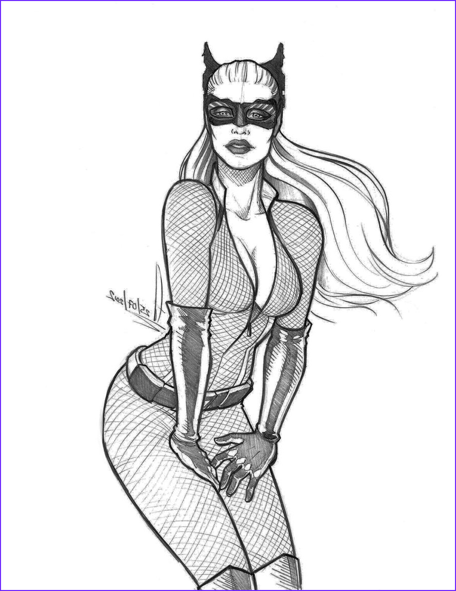 Catwoman Coloring Page New Photography Catwoman The Dark Knight Rises Sketch By Ederlunac On
