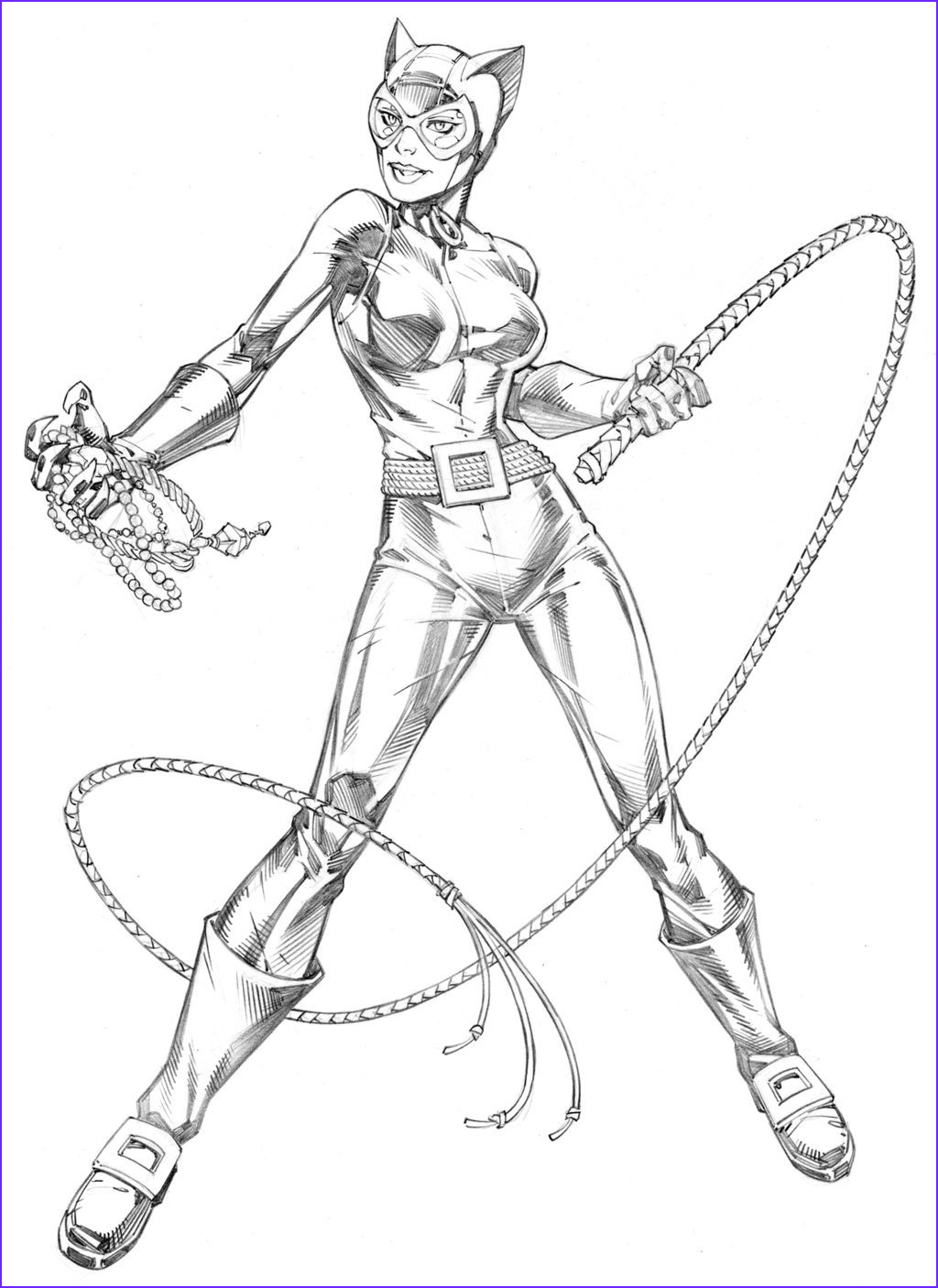 Catwoman Coloring Page New Photos Catwoman By Randy Green