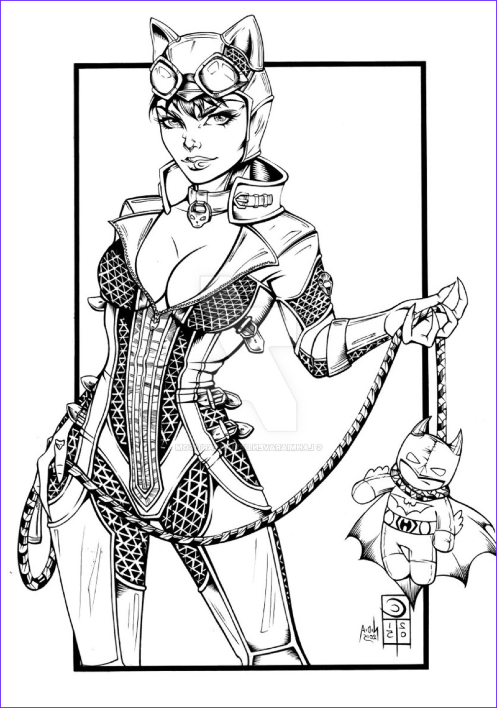 Catwoman Coloring Page Unique Gallery Catwoman Plush Turner By Lahmiaraven On Deviantart