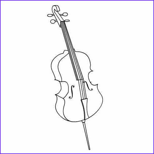 Cello Coloring Page Awesome Collection Cello Coloring Pages Kidsuki