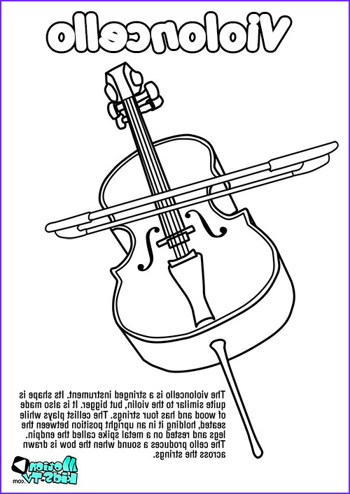 Cello Coloring Page Awesome Gallery Cello Coloring Pages Kidsuki
