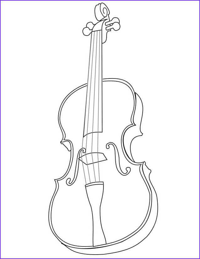 Cello Coloring Page Cool Collection Cello Drawing at Getdrawings