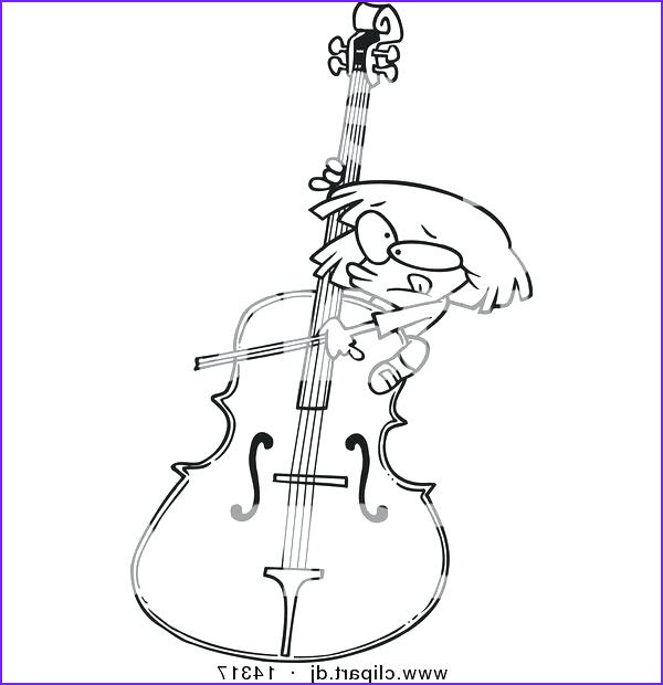 Cello Coloring Page Luxury Collection Cello Drawing at Getdrawings