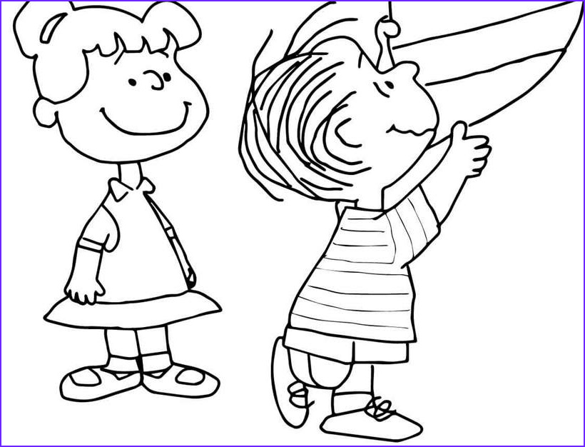 charlie brown coloring pages black and white