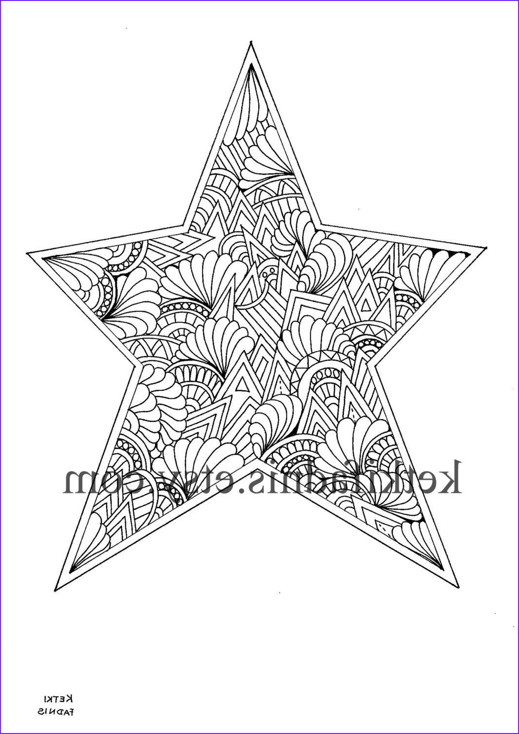 Christmas Star Coloring Page Awesome Images Christmas Star Coloring Page Instant Pdf Download Digital