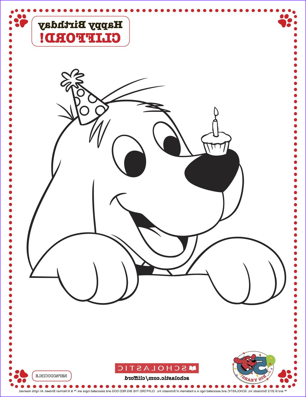 Clifford Coloring Page Luxury Photos Clifford Printable Birthday Coloring Page