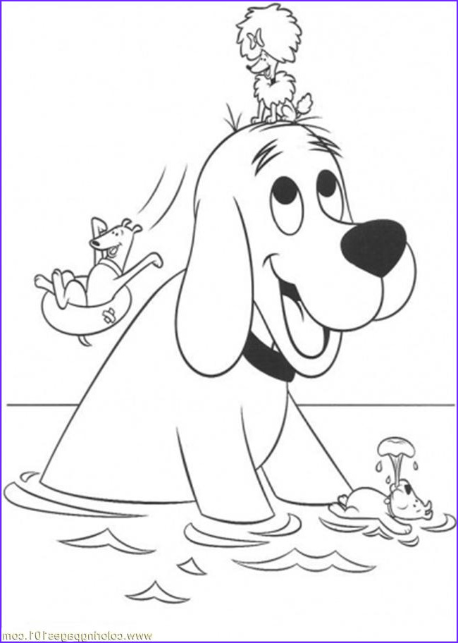 Clifford Coloring Page New Photos Clifford Coloring Pages to Print Coloring Home