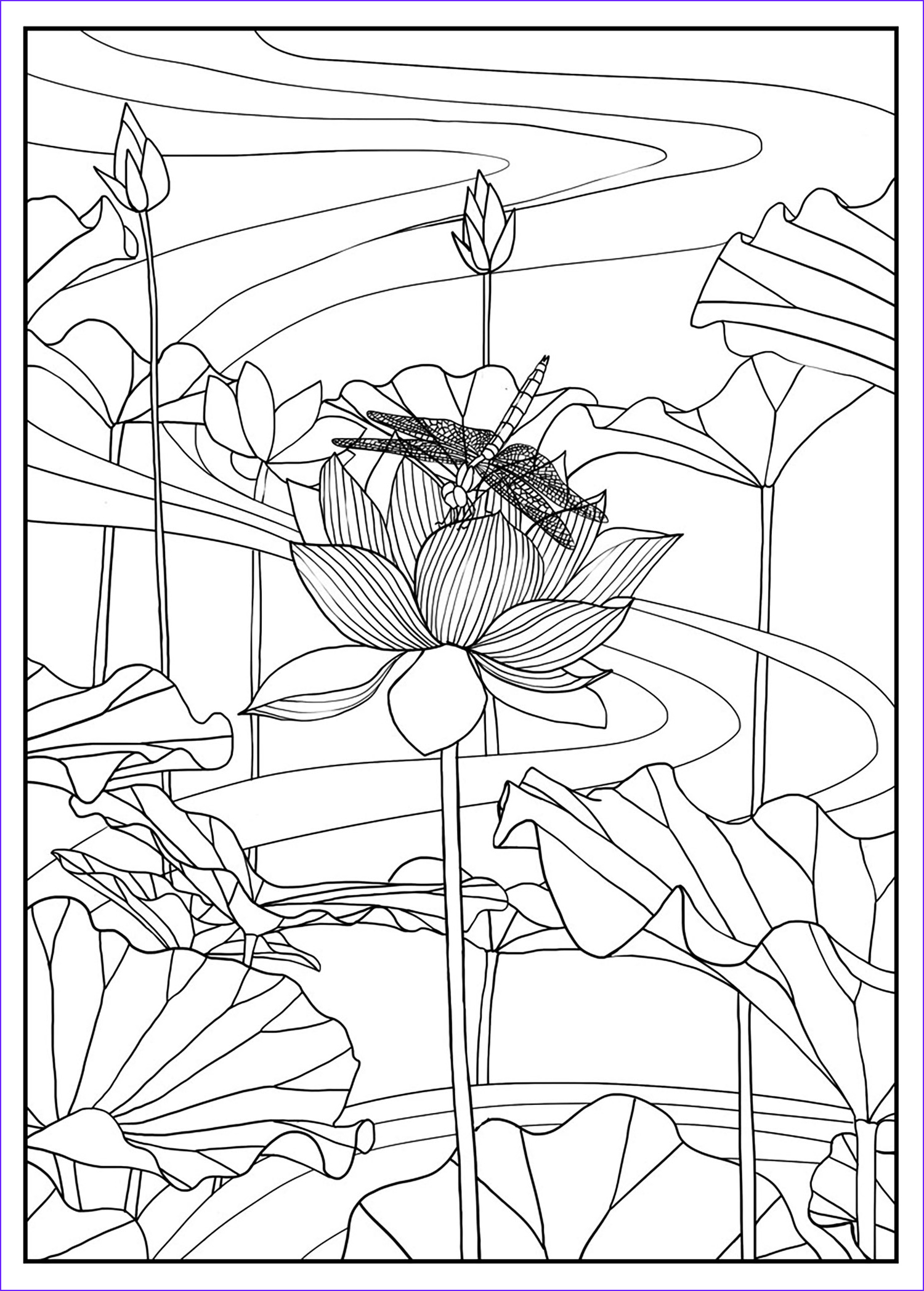 Color Art Coloring Book Best Of Gallery Lotus by Mizu Flowers Adult Coloring Pages Page 2