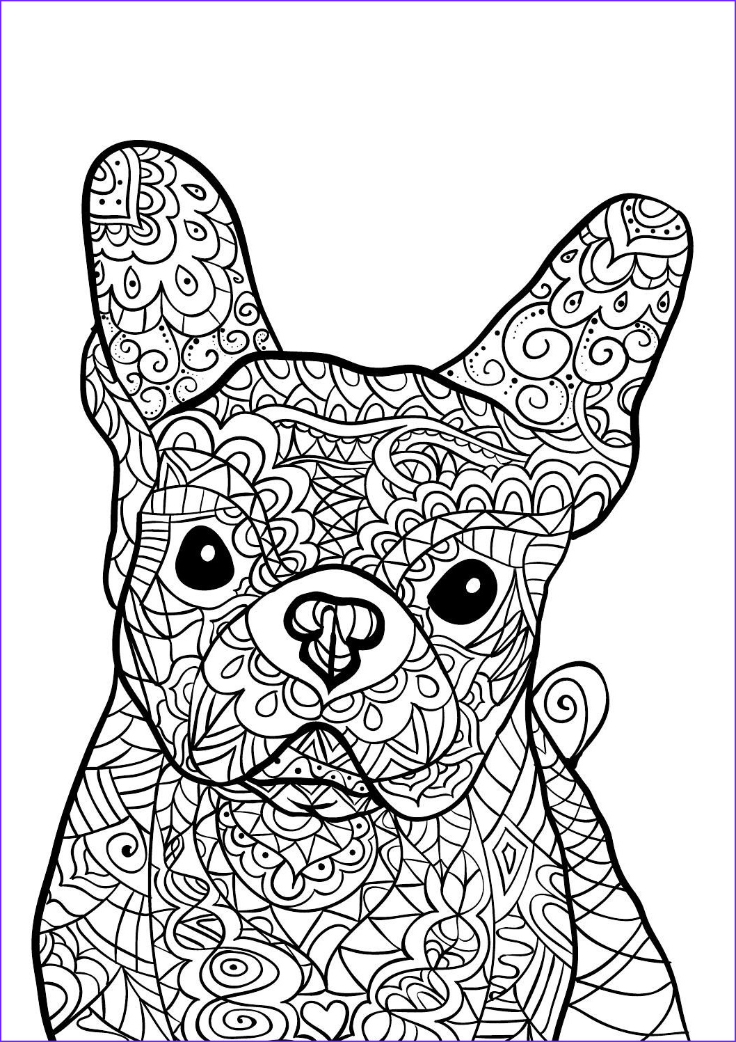 Color Coloring Page New Photos French Bulldog Coloring Pages at Getcolorings
