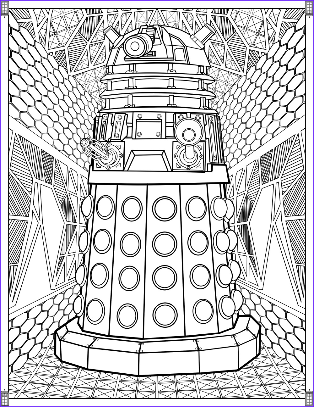 Color Coloring Page Unique Collection Doctor who Wibbly Wobbly Timey Wimey Coloring Pages