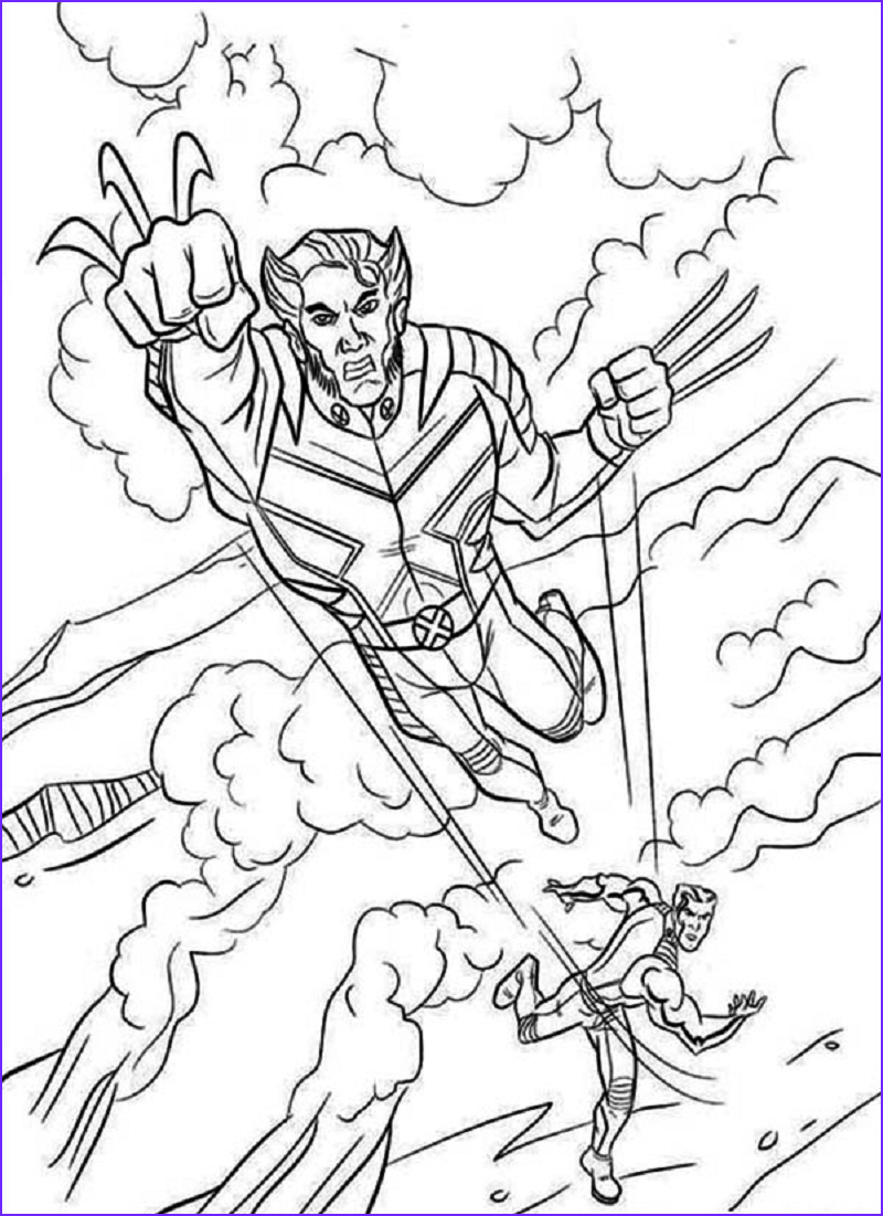 Coloring Book for Guys Awesome Photos Free Printable X Men Coloring Pages for Kids