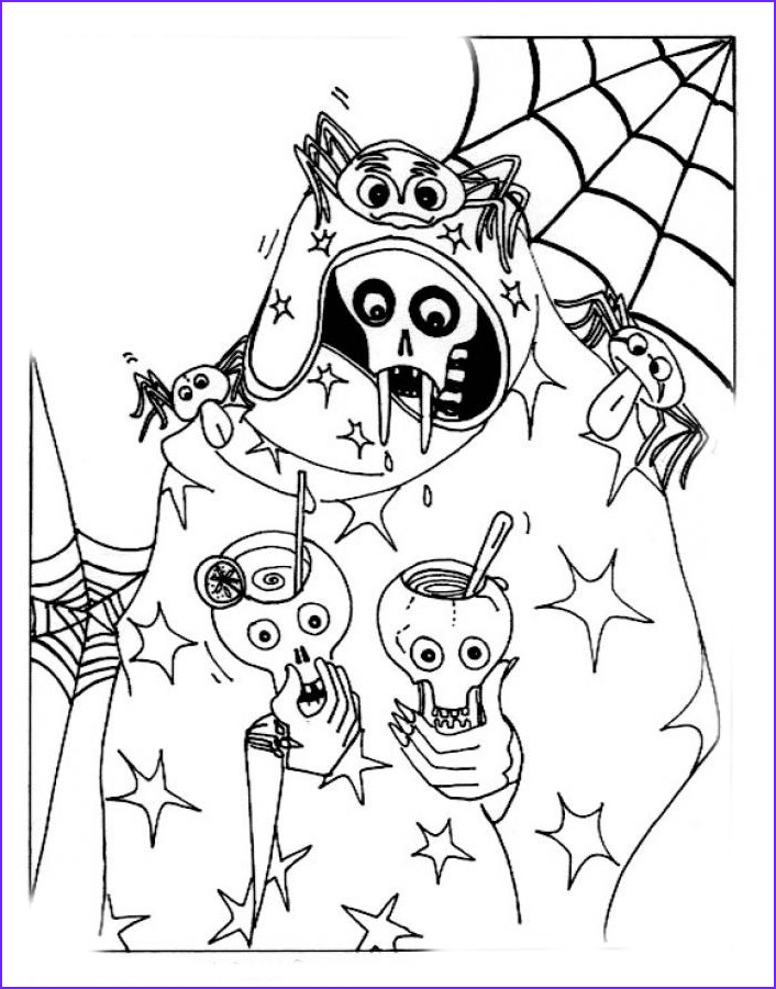 Coloring Book Halloween Beautiful Image Halloween Coloring Pages June 2012