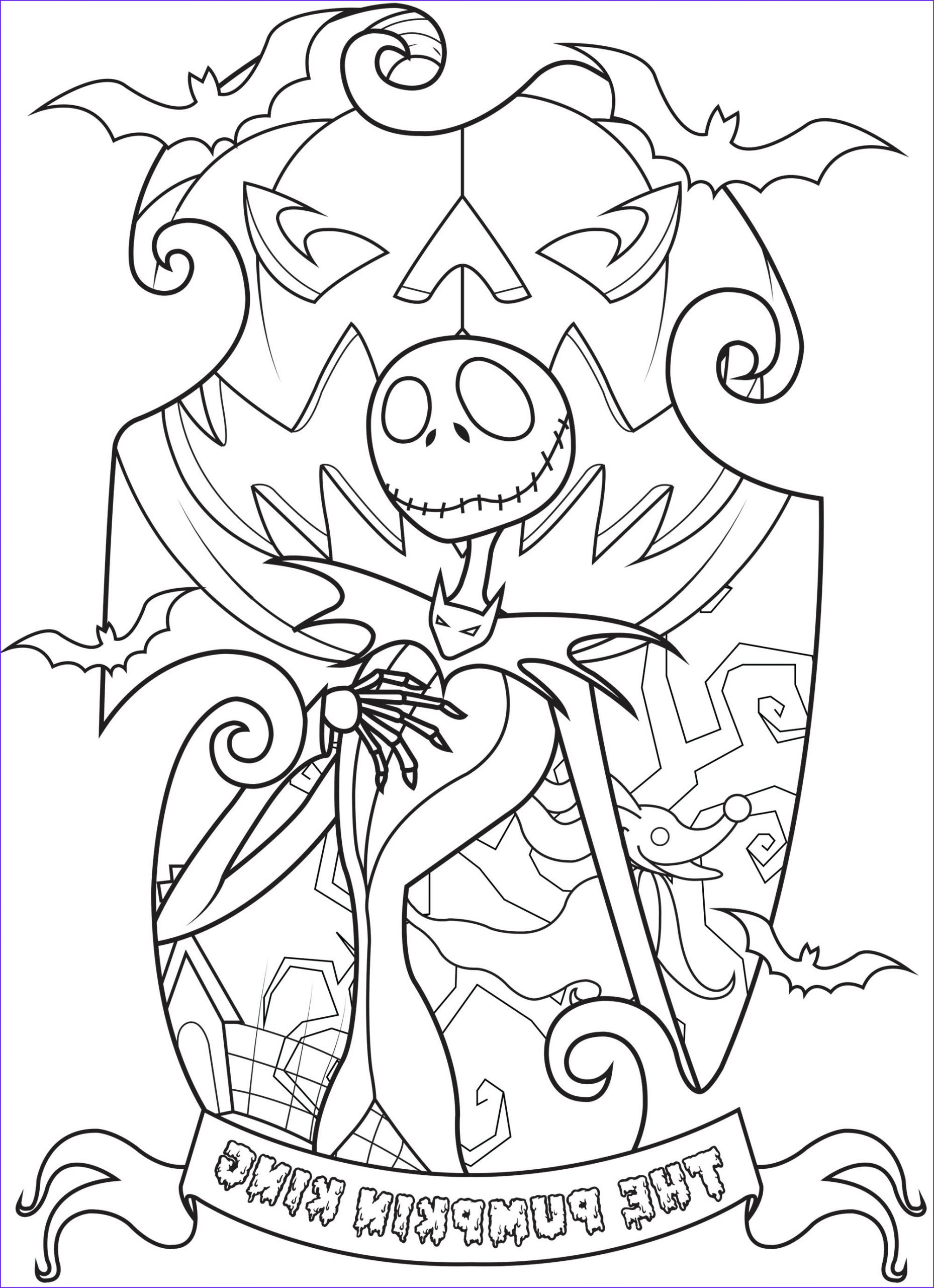 halloween adult coloring pages image=events halloween coloring jack skellington king of halloween town plex 1