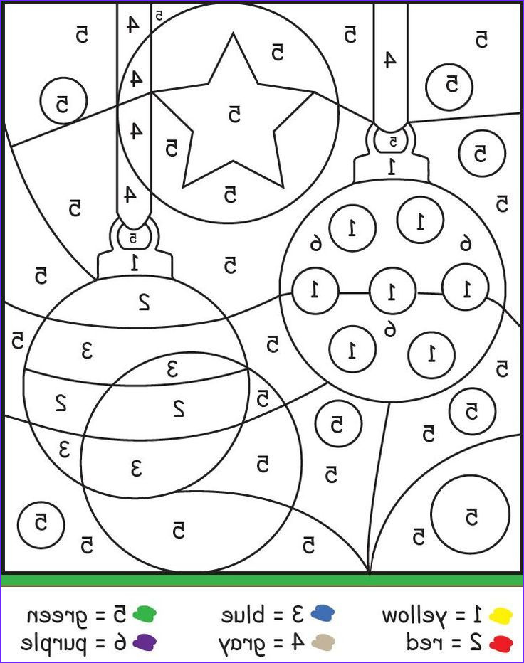 Coloring By Numbers Printables Best Of Images Christmas Color By Number