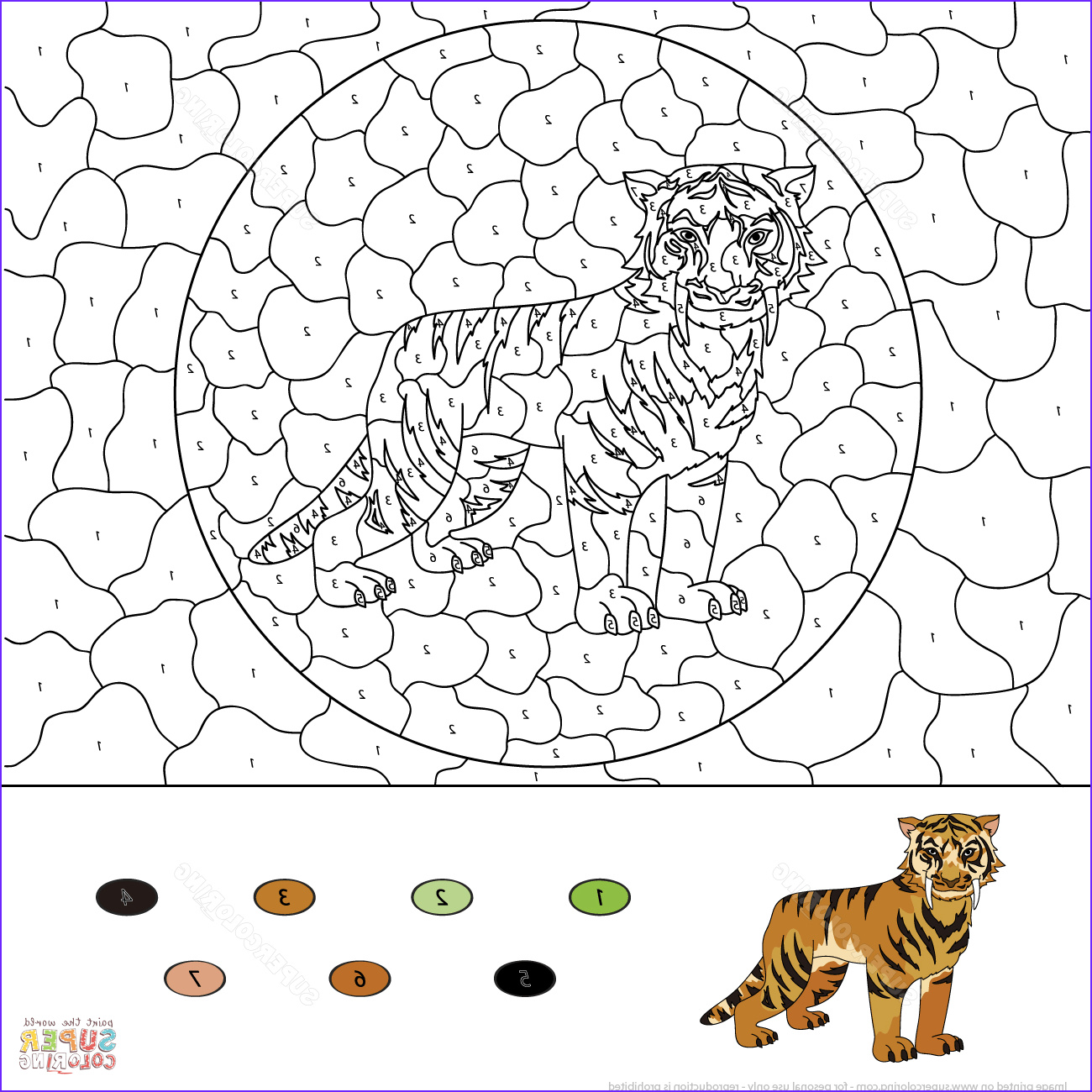 color by number advanced coloring pages