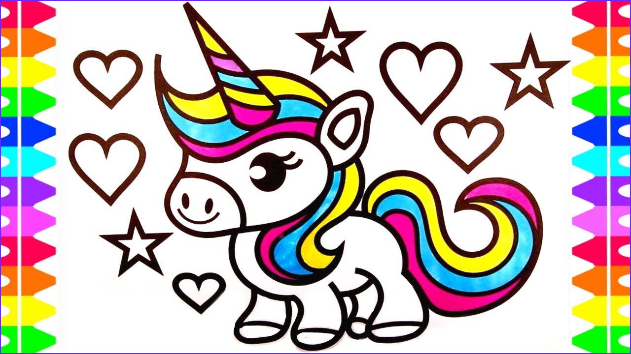 Coloring Page Cute Unicorn Beautiful Images Cute Baby Unicorn Drawing