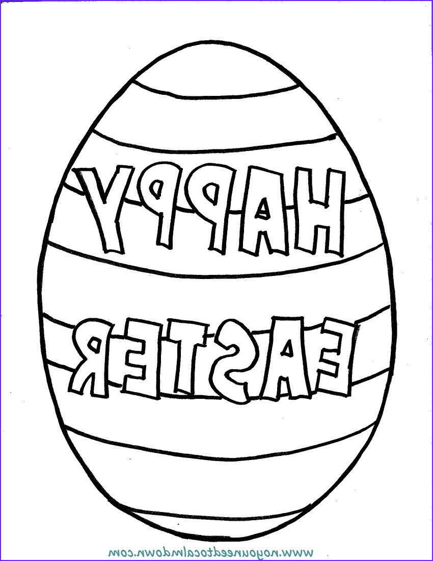 happy easter egg coloring page kids free printable